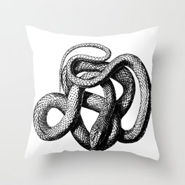 The Snake Throw Pillow
