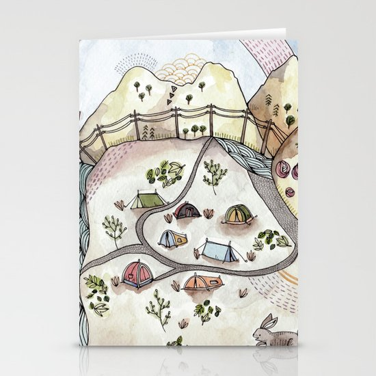 Desert Camp Stationery Cards