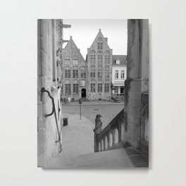 View from Damme Town Hall, Flanders, Belgium Metal Print