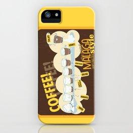 Málaga Coffee iPhone Case