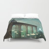 river Duvet Covers featuring The River by Christian Schloe