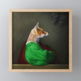 Portrait of the Fox and the Grapes Framed Mini Art Print