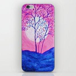 Pink Asian Cherry Tree iPhone Skin