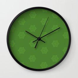 Snowflake I Green Wall Clock