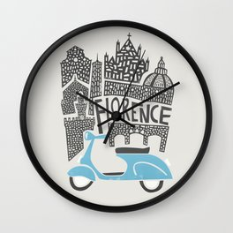 Florence Cityscape Wall Clock
