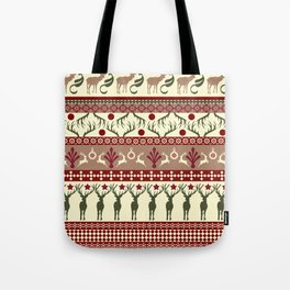 Classic Reindeer Ugly Sweater Tote Bag