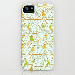 Kids on swings iPhone Case