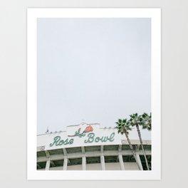 Rose Bowl Los Angeles Art Print