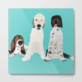 A Dog Mom's 3 Babes Metal Print