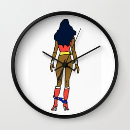 Wonder Butt - Dark Chocolate Love - Feminism Wall Clock
