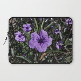 Purple Flower Bloom Laptop Sleeve