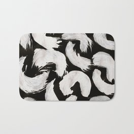 Cocoon, Abstract, White & Black Bath Mat