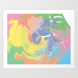 Cig Swirl Art Print