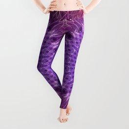 Red,fuchsia and violet mandala Leggings