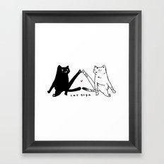 cat yoga Framed Art Print
