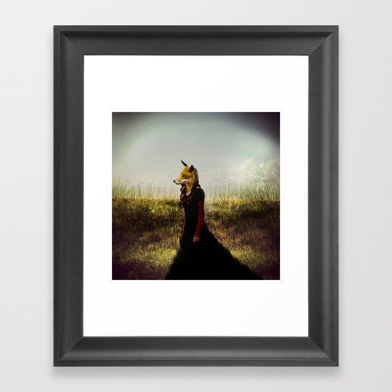 Eyes On The Prize | Fox Lady Framed Art Print