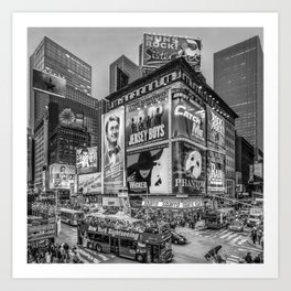 Times Square III Special Edition I (black & white) Art Print