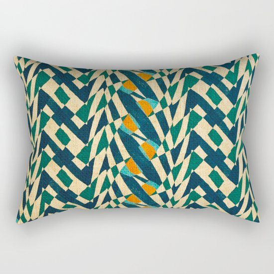 Braiding Colors Rectangular Pillow
