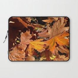 Artistic Fall Leaves In Autumn Sunshine Laptop Sleeve