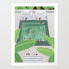 Green Riad Art Print