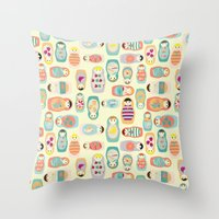 russia Throw Pillows featuring Russia by lapenche