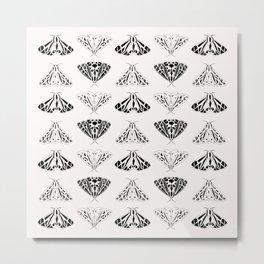 Moth pattern illustration Metal Print