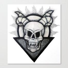 Demon Skull Canvas Print