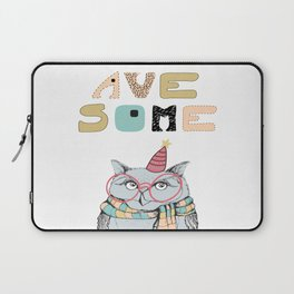 Awesome owl Laptop Sleeve