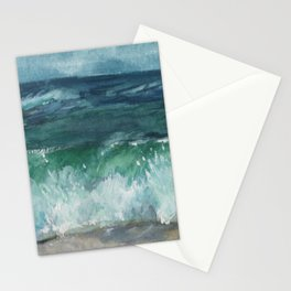 Watercolor Painting, Ocean Watercolor, Seascape Landscape Stationery Cards