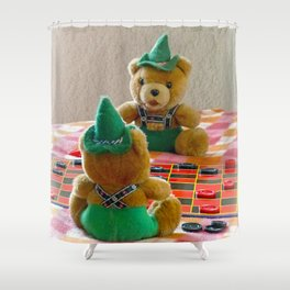 Hans and Yodel Shower Curtain