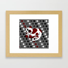 Strawberry Cream Stars - Night Variant Framed Art Print