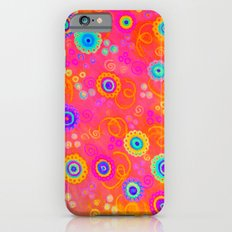 SWIZZLE STICK - Sweet Cherry Red Fruity Candy Swirls Abstract Watercolor Painting Feminine Art iPhone 6s Slim Case
