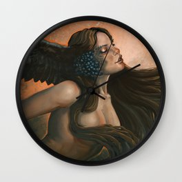 The Owl Mother Wall Clock
