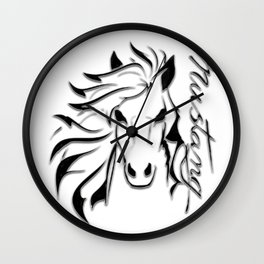 Mustang Muscle Massive Wall Clock