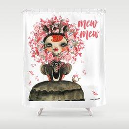 Deerlilah the Rose Lion Shower Curtain