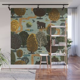 Excuse Me, Can You Tell Me Which Path Takes Me to All of the Blueberries? Wall Mural