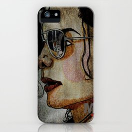 MJ In Profile iPhone Case
