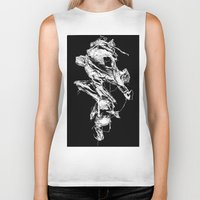 in the flesh Biker Tanks featuring flesh character  by Andrew Tremblay (Unknown Planet / ILL) a