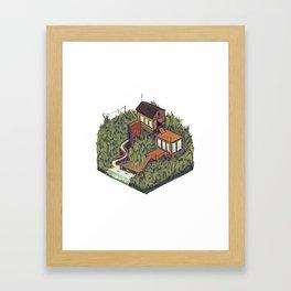 Squared Landscape III Framed Art Print