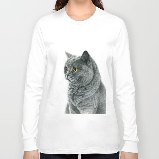 The Chartreux portrait G112 Long Sleeve T-shirt