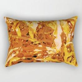 Yellow Garden Flowers Rectangular Pillow