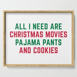Christmas Movies Funny Xmas Quote Serving Tray