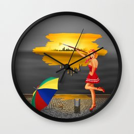 An artist paints his life colorful Wall Clock