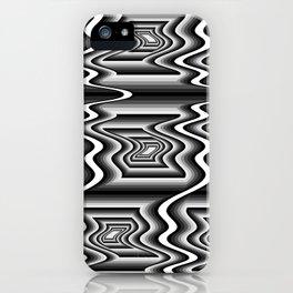 Grey Optical Pattern iPhone Case