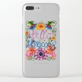 Hello Gorgeous Clear iPhone Case