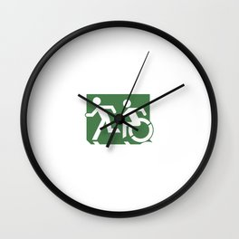 Wheelchair Disabled Exit Sign, with Accessible Means of Egress Icon Wall Clock