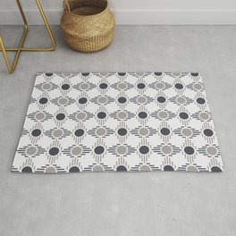 Geometric Pattern. Circles and Rhombuses Rug