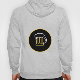 Beer Mug Foam  Neon Sign Icon Hoody