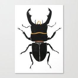 Noir Beetle Dark Watercolor  Canvas Print