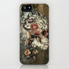 Skull on old grunge iPhone Case